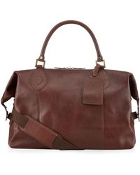 Barbour - Leather Travel Explorer Bag - Lyst