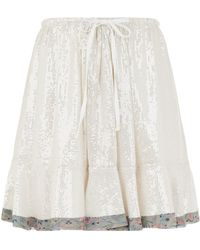 Chloé - Ruffle Hem Sequin Skirt - Lyst