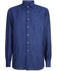 Harrods - Linen Long Sleeve Shirt - Lyst