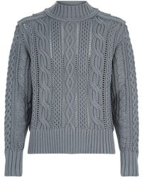 Burberry - Chunky Cable Knit Sweater - Lyst