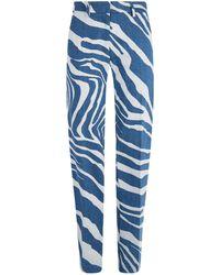 Roberto Cavalli - Tiger Stripe Jeans - Lyst