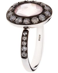 Annoushka - Dusty Diamonds Rose Quartz Ring - Lyst