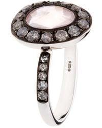 Annoushka | Dusty Diamonds Rose Quartz Ring | Lyst