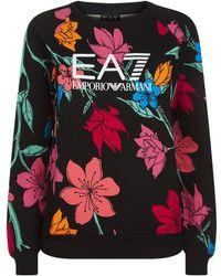 Armani - Floral Print Sweater - Lyst