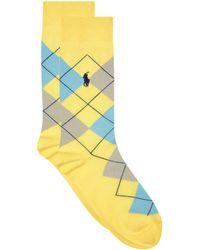 Ralph Lauren - Argyle Crew Socks - Lyst