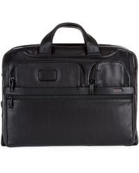 Tumi - Alpha 2 Slim Deluxe Leather Portfolio - Lyst