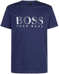 BOSS Green - Large Logo T-shirt - Lyst