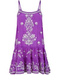 Juliet Dunn - Embroidered Camisole Dress - Lyst