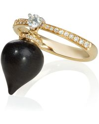 Annoushka - Touch Wood Ebony Ring - Lyst