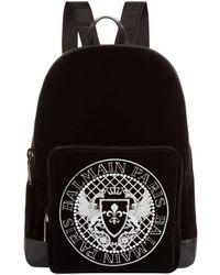 Balmain - Velvet Logo Backpack - Lyst