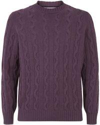 Brunello Cucinelli - Cashmere Cable Knit Sweater - Lyst