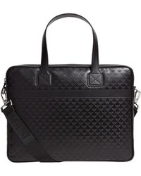 Emporio Armani - Leather Eagle Embossed Briefcase - Lyst
