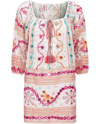 bf5a4a721 Juliet Dunn - Cotton Embroidered Tunic - Lyst