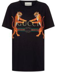 Gucci - Bengal Tiger Logo T-shirt - Lyst