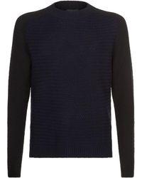Emporio Armani - Wool Honeycomb Knit Jumper - Lyst