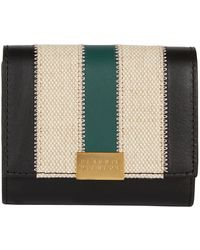 Claudie Pierlot Leather Stripe Purse