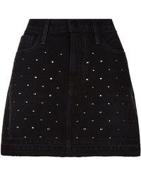 FRAME - Le Mini Skirt Crystal Studded Skirt - Lyst