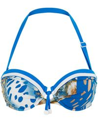 Shan - Animal Print Bikini Top - Lyst