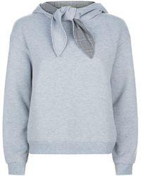 Claudie Pierlot - Tie Collar Hoodie - Lyst