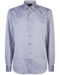 Emporio Armani - Blurred Houndstooth Shirt - Lyst