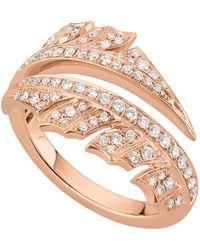 Stephen Webster - Rose Gold Magnipheasant Pav Diamond Split Ring - Lyst