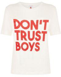 Claudie Pierlot - Don't Trust Boys T-shirt - Lyst