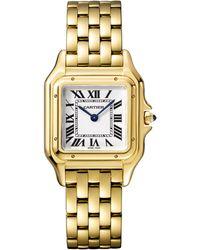 Cartier - Medium Yellow Gold Panthre De Watch 27mm - Lyst