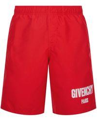 Givenchy | Logo Patch Swim Shorts | Lyst