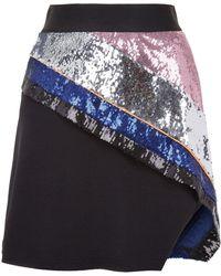 Fyodor Golan - Mirage Striped Sequin Skirt - Lyst