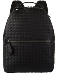 Bottega Veneta - Leather Intrecciato Weave Backpack - Lyst
