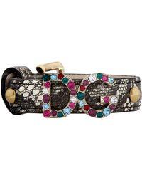 Dolce & Gabbana - Embellished Leather Bracelet - Lyst
