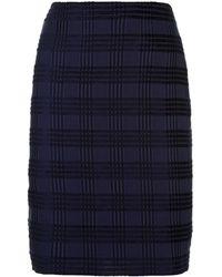 Akris - Square Jacquard Skirt - Lyst