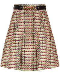 Gucci - Horsebit Tweed Mini Skirt - Lyst
