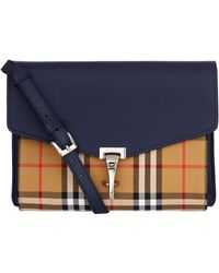 Burberry - Small House Check Cross Body Bag - Lyst