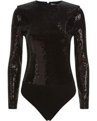 Alice + Olivia - Britney Sequin Bodysuit - Lyst