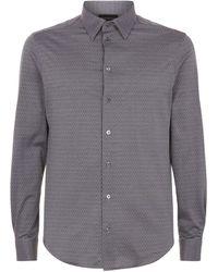 Emporio Armani - Geometric Print Shirt - Lyst
