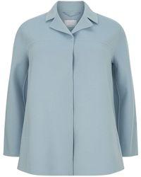 Marina Rinaldi - Double-layer Wool And Cashmere Jacket - Lyst