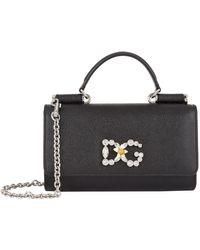 cb46ce99b42d Lyst - Dolce   Gabbana White Quilted Sicily Von Wallet Bag in White