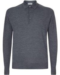 John Smedley - Belper Merino Wool Polo Shirt - Lyst