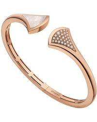 BVLGARI - Rose Gold Mother-of-pearl And Diamond Divas' Dream Cuff Bracelet - Lyst