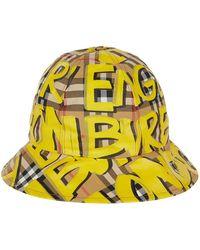 Burberry - Graffiti Check Bucket Hat - Lyst