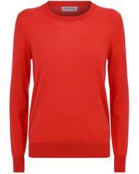 Burberry - Elbow Patch Merino Wool Sweater - Lyst