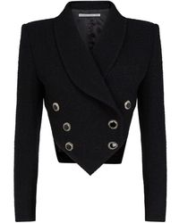 Alessandra Rich - Tweed Cropped Jacket - Lyst