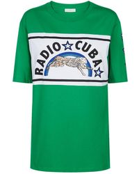 Sandro - Embroidered T-shirt - Lyst