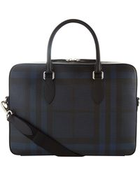Burberry - Smoked Check Briefcase - Lyst