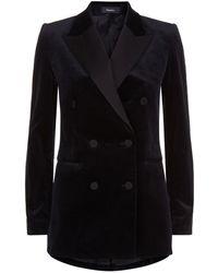 Theory - Velvet Tuxedo Jacket - Lyst