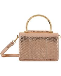 Ferragamo - Mina Leather Top Handle Bag - Lyst