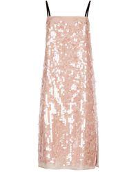 N°21 - Sequinned Shift Dress - Lyst