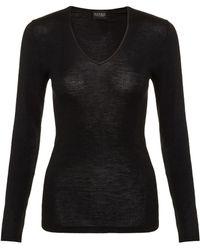 Hanro - Wool And Silk Long Sleeve Top - Lyst