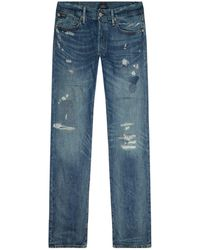 Polo Ralph Lauren - Varick Slim-fit Distressed Jeans - Lyst